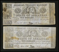 Obsoletes By State:Arkansas, (Little Rock), AR- Arkansas Treasury Warrants $10 1863 Cr. 56 Two Examples. ... (Total: 2 notes)