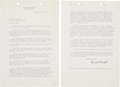 Autographs:Inventors, Orville Wright Typed Letter Signed, along with a collection ofother letters, most written by author John Walter Wood to Wri...(Total: 2 Items)