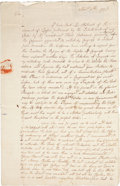 "Autographs:Statesmen, William Ellery Autograph Letter Signed (""W. E."") with Free Frank (""Wm. Ellery"") to ""William Vernon..."