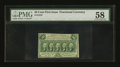 Fractional Currency:First Issue, Fr. 1310 50¢ First Issue PMG Choice About Unc 58....