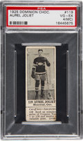 Hockey Cards:Lots, 1925 Dominion Chocolate Aurele Joliat PSA VG-EX 4 (MC)....