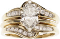 Estate Jewelry:Lots, Diamond, Gold Ring Set. ... (Total: 2 Items)