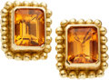 Estate Jewelry:Earrings, Citrine, Gold Earrings, Reinstein/Ross. ... (Total: 2 Items)