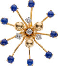 Estate Jewelry:Stick Pins and Hat Pins, Diamond, Lapis Lazuli, Gold Hat Pin, Schlumberger, Tiffany & Co.. ...
