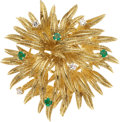 Estate Jewelry:Brooches - Pins, Diamond, Emerald, Gold Brooch, Tiffany & Co.. ...