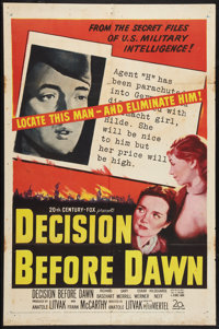 "Decision Before Dawn Lot (20th Century Fox, 1951). One Sheets (2) (27"" X 41""). War. ... (Total: 2 Items)"