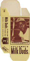 Baseball Cards:Singles (1970-Now), 1971 Milk Duds Roberto Clemente 8a. Flawless unused box featuresone of the greatest athletes to call Steeltown home. Magn...