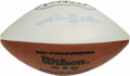 Football Collectibles:Balls, Johnny Unitas Single Signed Football. Here we offer a Wilson football signed by the ten time pro bowler, Johnny Unitas on t...