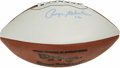 Football Collectibles:Balls, Roger Staubach Single Signed Football. Offered here is a Wilson football signed by the 1975 Heisman Trophy winner and Dalla...