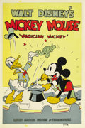 "Movie Posters:Animated, Magician Mickey (United Artists, 1937). Poster (40"" X 60""). ..."