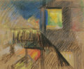 American:Modern, JOSEPH STELLA (American 1877 - 1946). Third Avenue El.Pastel on paper. 13-1/2 x 16-1/2 inches. PROVENANCE:. Estate of...