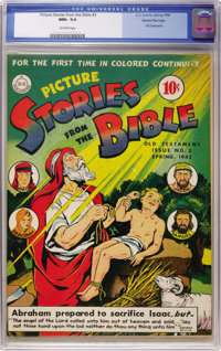 Picture Stories from the Bible Old Testament Edition #3 Gaines File pedigree (DC, 1943) CGC NM+ 9.6 Off-white pages