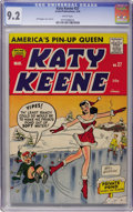 Silver Age (1956-1969):Humor, Katy Keene #27 (Archie, 1956) CGC NM- 9.2 White pages....