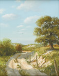 Fine Art - Painting, American:Contemporary   (1950 to present)  , GEORGE KOVACH (American, Late Twentieth Century). Landscape with Path, 1971. Oil on canvas. Signed to lower right. 14-1/...