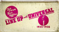 "Movie Posters:Miscellaneous, Universal Campaign Book (Universal, 1935-1936). Exhibitor Book (10""x 19"") (46 pages)...."