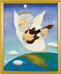 "Music Memorabilia:Original Art, Stanley Mouse - ""Jerry Angel Unplugged"" Study Painting Original Art (1995). Grateful Dead guitarist Jerry Garcia's passing,... (Total: 1 Item)"