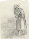 Original Comic Art:Miscellaneous, Johnny Craig - Vault Keeper Sketch Original Art (undated). ...