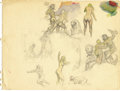 "Original Comic Art:Miscellaneous, Frank Frazetta - ""The Land That Time Forgot"" Preliminary StudyOriginal Art (circa 1960s)...."