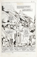 Original Comic Art:Splash Pages, Jack Kirby and Greg Theakston - Super Powers #2, Splash Page 1Original Art (DC, 1985). ...