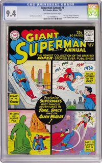 Superman Annual #4 (DC, 1961) CGC NM 9.4 Off-white to white pages