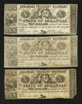 Obsoletes By State:Arkansas, (Little Rock), AR- Arkansas Treasury Warrants $10 1862 Cr. 58 Three Examples. ... (Total: 3 notes)