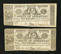 Obsoletes By State:Arkansas, (Little Rock), AR- Arkansas Treasury Warrants $10 1863-64 Cr. 54A Two Examples. ... (Total: 2 notes)