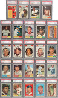 Baseball Cards:Sets, 1961 Topps Baseball High Grade Complete Set (587) - With Over 500PSA-Graded Cards!...