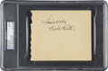Autographs:Others, Circa 1932 Babe Ruth Signed Album Page, PSA/DNA Mint 9....