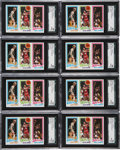 Basketball Cards:Lots, 1980-81 Topps Larry Bird/Magic Johnson Rookie SGC-Graded Collection(17). ...