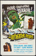"Movie Posters:Horror, The Alligator People (20th Century Fox, 1959). One Sheet (27"" X 41""). Horror.. ..."