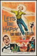 "Movie Posters:Musical, Let's Be Happy (Allied Artists, 1957). One Sheet (27"" X 41"") and Pressbook (12"" X 18""). Musical.. ... (Total: 2 Items)"