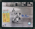 Baseball Collectibles:Tickets, Don Larsen Signed Photograph with 1956 World Series Ticket Stub....
