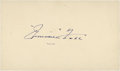 Baseball Collectibles:Others, 1958 Jimmie Foxx Signed Government Postcard....