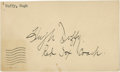 Baseball Collectibles:Others, 1945 Hugh Duffy Signed Government Postcard....