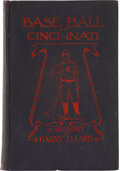 Baseball Collectibles:Others, 1908 Baseball in Cincinnati First Edition Book....