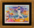 Autographs:Others, 1991 Ted Williams Serigraph by LeRoy Neiman, Signed by Both....