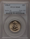 Washington Quarters: , 1996-P 25C MS68 PCGS. PCGS Population (53/0). NGC Census: (11/0).Mintage: 925,040,000. Numismedia Wsl. Price for problem f...