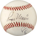 Autographs:Baseballs, 1980's Mickey Mantle & Roger Maris Signed Baseball. ...
