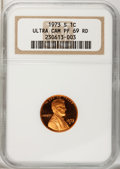 Proof Lincoln Cents: , 1973-S 1C PR69 Ultra Cameo NGC. NGC Census: (25/0). PCGS Population (346/3). Numismedia Wsl. Price for problem free NGC/PC...