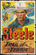 """Movie Posters:Western, Brand of the Outlaws (Supreme, 1936). One Sheet (27"""" X 41""""). Western.. ..."""