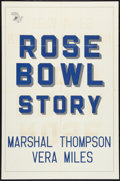 """Movie Posters:Sports, The Rose Bowl Story (Monogram, 1952). Military One Sheet (27"""" X 41""""). Sports.. ..."""