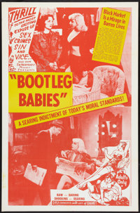 "Bootleg Babies (Roadshow, 1950). One Sheet (27"" X 41""). Exploitation. Originally released as Souls in Pawn..."