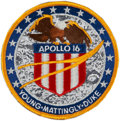 Transportation:Space Exploration, Apollo 16 Flown Embroidered Mission Insignia Patch Directly from the Personal Collection of Mission Commander John Young, Sign...