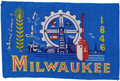 Transportation:Space Exploration, Gemini 7 Flown City of Milwaukee, Wisconsin Flag Directly from thePersonal Collection of Mission Pilot James Lovell, Signed a...