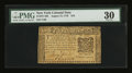 Colonial Notes:New York, New York August 13, 1776 $10 PMG Very Fine 30....