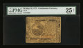 Continental Currency May 10, 1775 $6 PMG Very Fine 25 Net