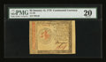 Colonial Notes:Continental Congress Issues, Continental Currency January 14, 1779 $2 PMG Very Fine 20....