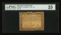 Colonial Notes:Maryland, Maryland December 7, 1775 $4 PMG Very Fine 25....