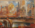 Original Comic Art:Illustrations, Joseph Chenoweth Gulf Refining Co. Ad Illustration Original Art (undated)....