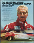 """Movie Posters:Sports, Paul Newman Budweiser Racing Poster (Anheuser-Busch, 1979). Poster (22"""" X 28""""). Sports.. ..."""